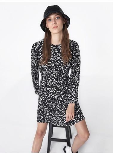 Twist Sırt Dekolteli Elbise Siyah